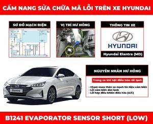 cam nang sua chua ma loi b1241 evaporator sensor short low obdvietnam