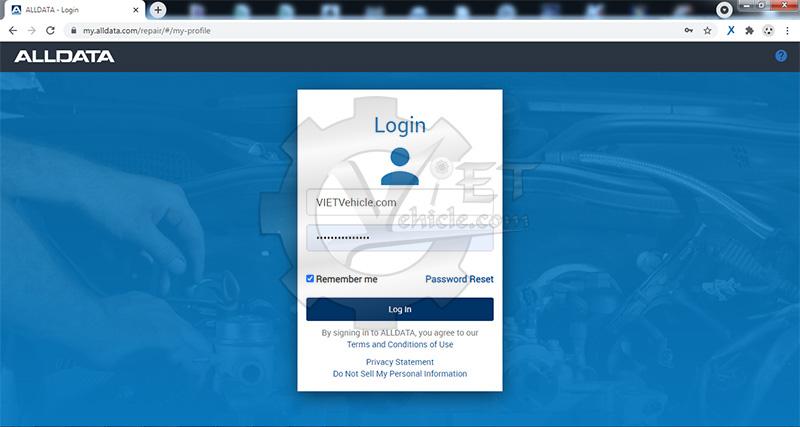 đăng nhập alldata online