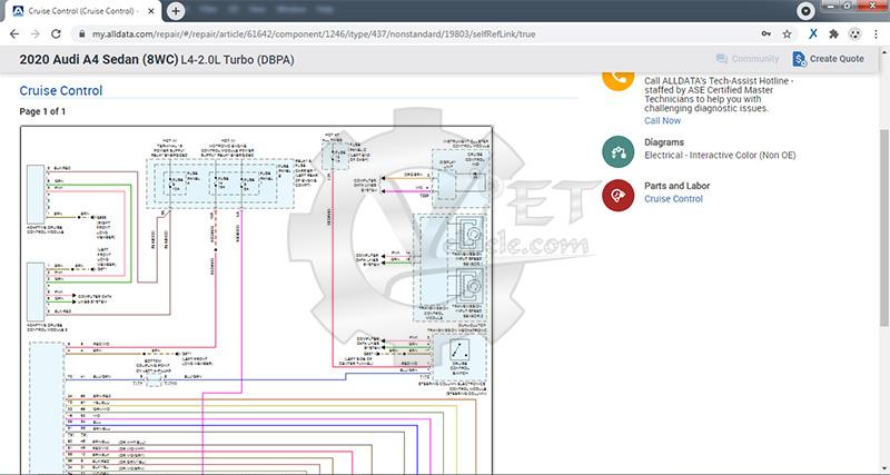 sơ đồ mạch điện trong alldata online