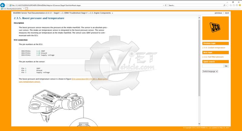 WinEEM4s JCB Service Tool software